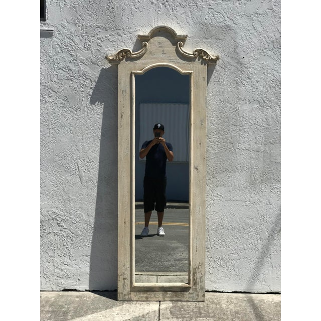 Hand Crafted Tall Wooden Hall Mirror For Sale - Image 4 of 4