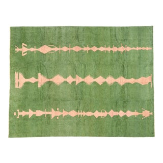 Contemporary Moroccan Area Rug With Postmodern Style- 12'05 X 16'02 For Sale