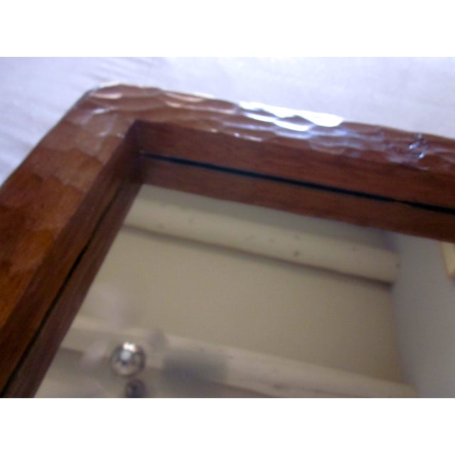 Rustic Carved Wooden Mirror - Image 6 of 10