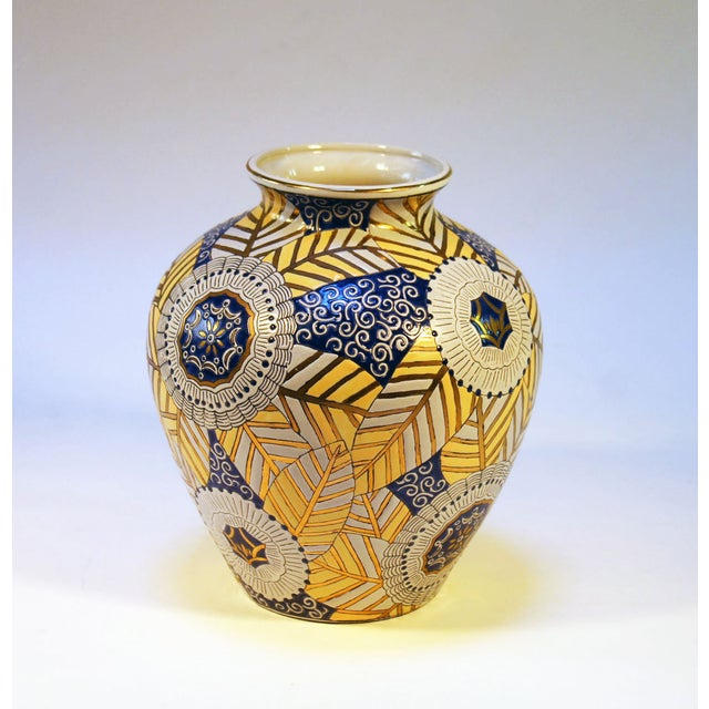 Chinese Gold, Blue and White Vase - Image 3 of 7