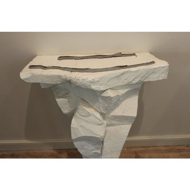 Mid 20th Century 20th Century Brutalist Console Table With Black Stone Top For Sale - Image 5 of 13