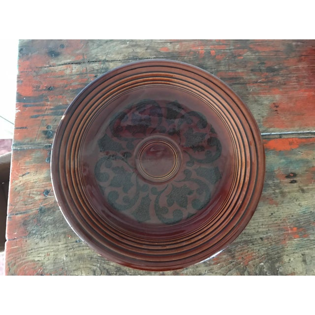 Homer Laughlin Amberstone Serving Platter For Sale In Los Angeles - Image 6 of 6