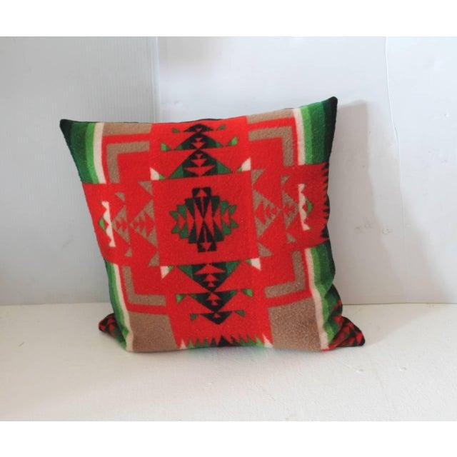 Pendleton Woolen Mills Pair of Pendleton Indian Design Blanket Pillows For Sale - Image 4 of 5