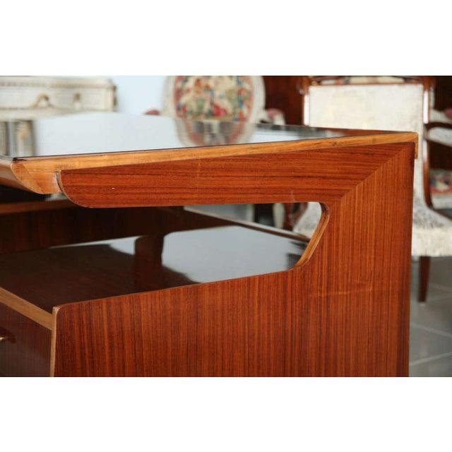 Paolo Buffa Italian Modern Mahogany and Walnut Desk, Paolo Buffa For Sale - Image 4 of 5