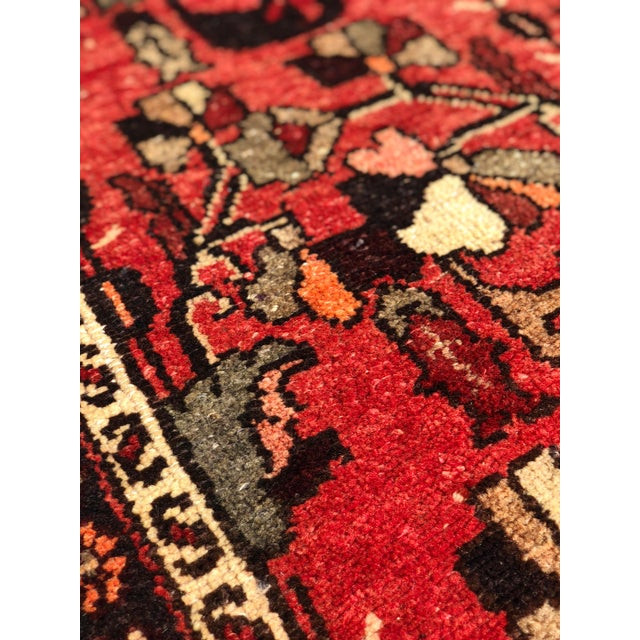 """1960's Vintage Persian Hamadan Thick & Heavy Runner 3'3""""x9'4"""" For Sale - Image 10 of 13"""