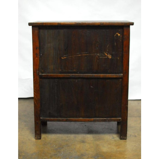 Metal Chinese Carved Two-Door Cabinet Chest For Sale - Image 7 of 8