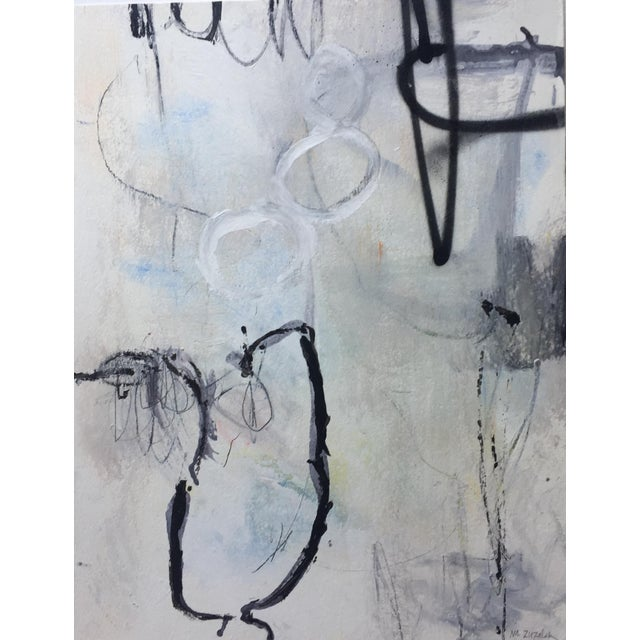 2020s 'Its All In' Drawing Abstract Black Grey Tones For Sale - Image 5 of 5