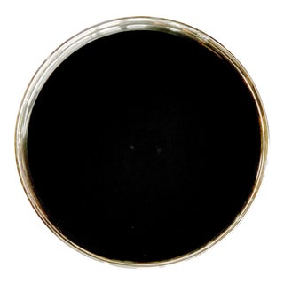 Gorham Sterling Silver Tray Black Laminate For Sale