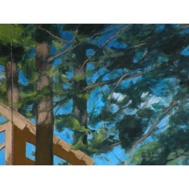 """2010s """"Tree House ~ Looking Up"""" Contemporary Large Painting by Stephen Remick For Sale - Image 5 of 10"""