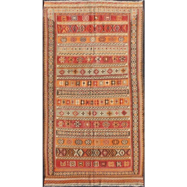 Keivan Woven Arts, S12-0601, 1930's Antique Moroccan Kilim Rug - 5′ × 9′10″ For Sale - Image 11 of 11