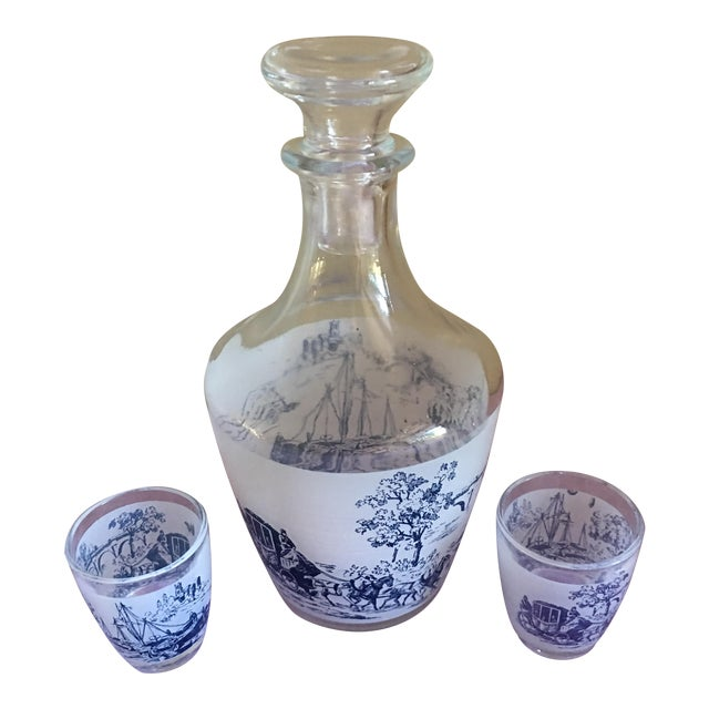 Vintage French Petit Decanter - 3 Pieces - Image 1 of 5