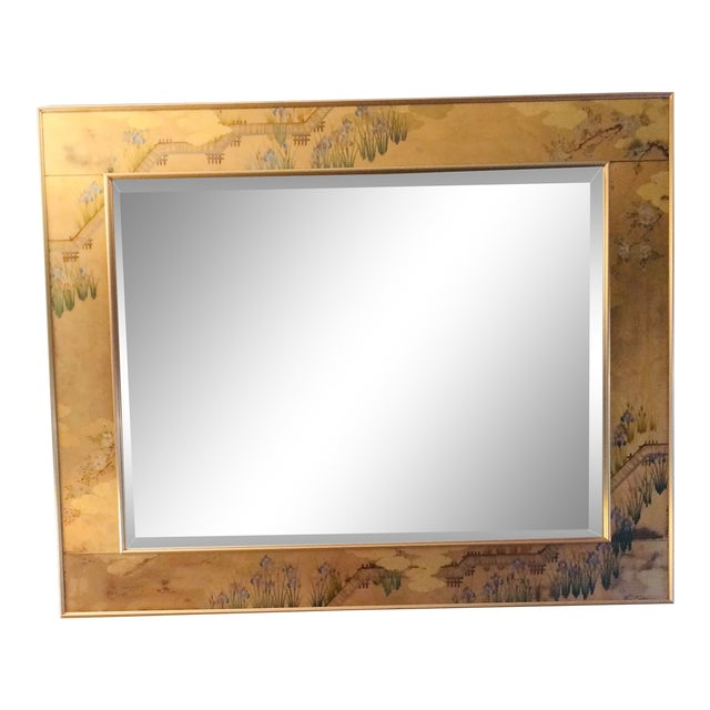 1980s La Barge Chinoiserie Mirror For Sale