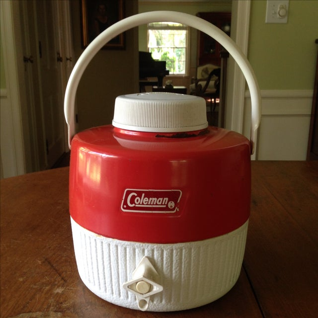 Vintage Red Metal & Plastic Coleman Cooler - Image 11 of 11