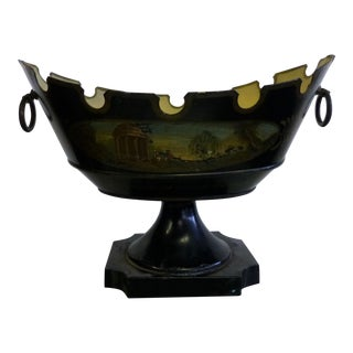 Mid 19th Century Antique French Tole Jardiniere Planter For Sale