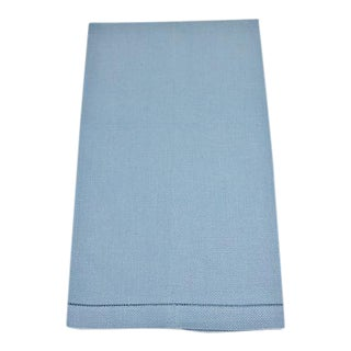 Vintage Blue Linen Hand Towel For Sale