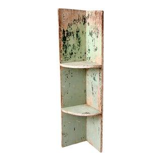 Antique Primitive Corner Shelf For Sale