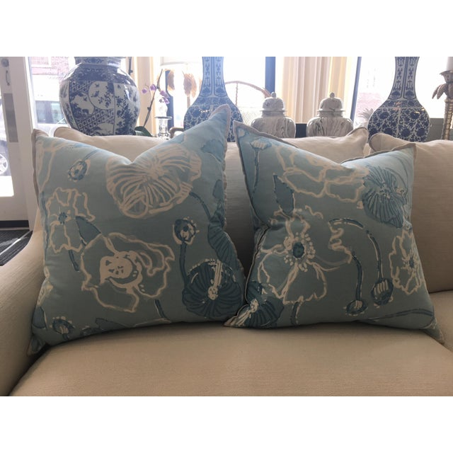 Lilly Pulitzer For Lee Jofa Dahlia In Skye Blue Pillows A Pair