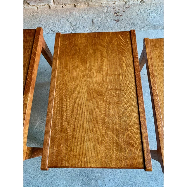 Midcentury Gordon Russell Nest of Tables Set of Three Oak, 1950s - Set of 3 For Sale - Image 10 of 13