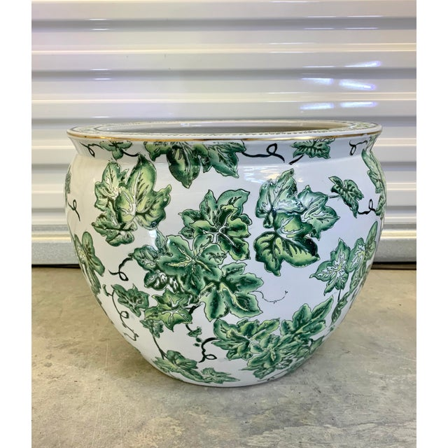 Leaf Motif Jardiniere For Sale - Image 13 of 13