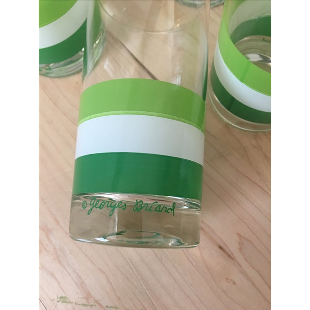Georges Briard Green & White Tumblers - Set of 4 - Image 4 of 5