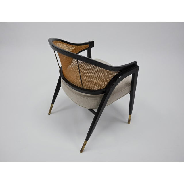 Caned back occasional chairs by Edward Wormley for Dunbar For Sale In Boston - Image 6 of 11