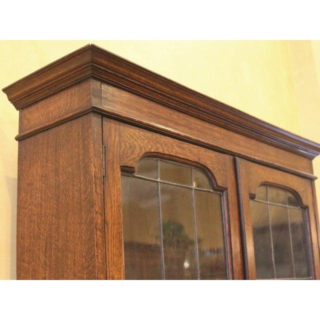 1910s 1910s Jacobean Oak Bureau Bookcase For Sale - Image 5 of 13