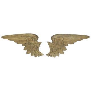 19th Century Italian Carved Angel Wings, Pair For Sale