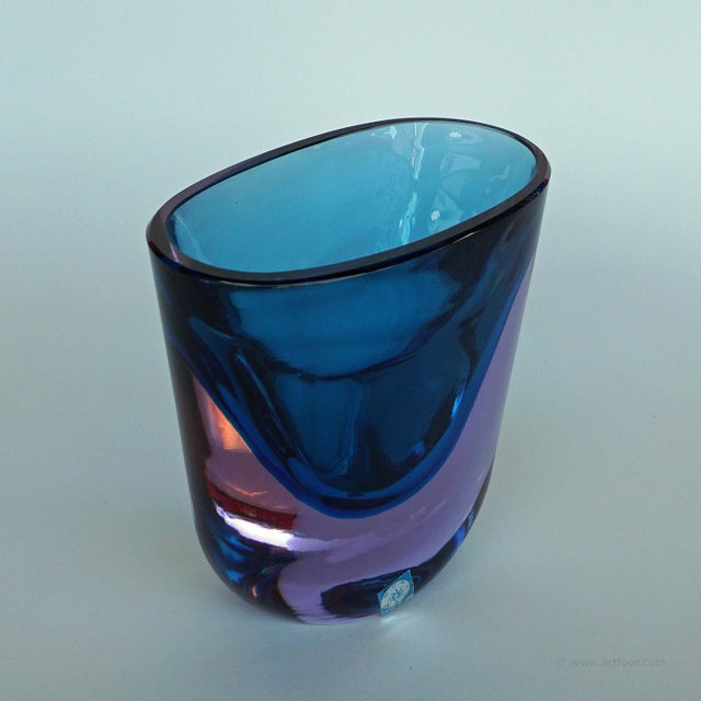 Italian Flavio Poli For Seguso Sommerso Vase Murano Ca. 1960 For Sale - Image 3 of 7