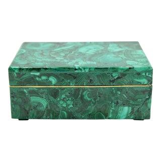 Extra Large Genuine Malachite Box For Sale