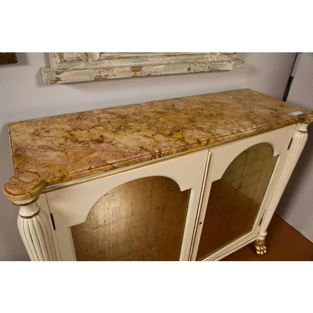 Regency Style Marble Top Cabinets - A Pair For Sale - Image 4 of 10