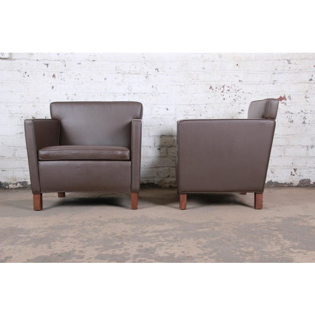 Knoll International Ludwig Mies Van Der Rohe for Knoll Studio Krefeld Leather Club Chairs, Pair For Sale - Image 4 of 9