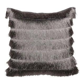 Gatsby Grey Fringed Cushion For Sale