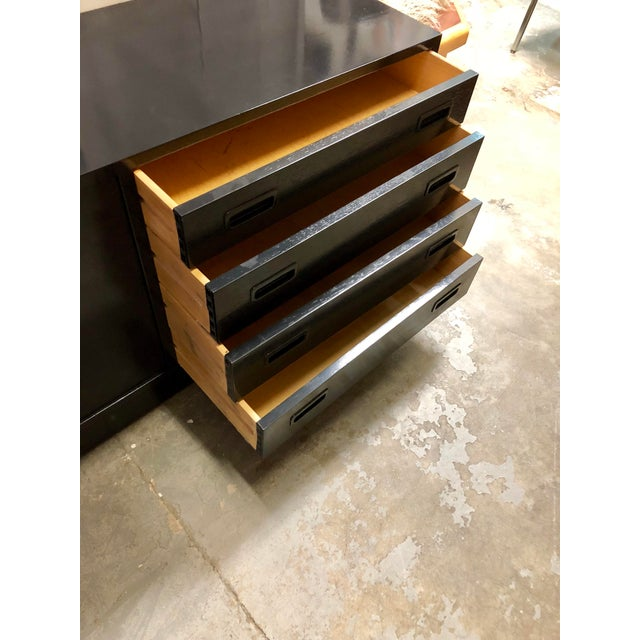 Mid Century Black Lacquered Danish Cabinet For Sale In Charleston - Image 6 of 8