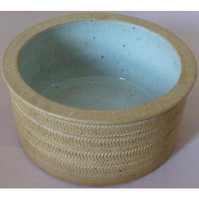 Mid Century Dansk Pottery Bowl by Niels Refsgaard For Sale - Image 12 of 13