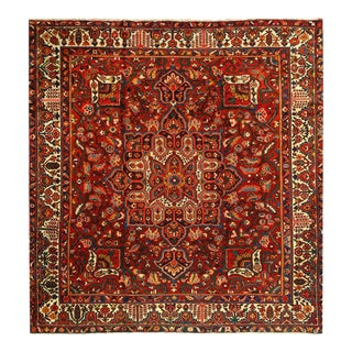 Persian Semi Antique Bakhtiari Hand-Knotted 10'2'' X 10'11'' For Sale