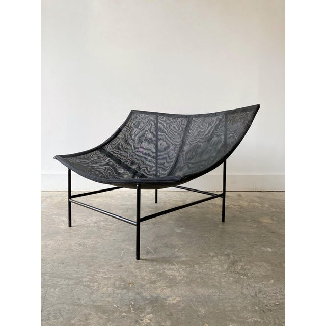 1980s Gerard Van Den Berg Black Leather Butterfly Chair For Sale - Image 10 of 11