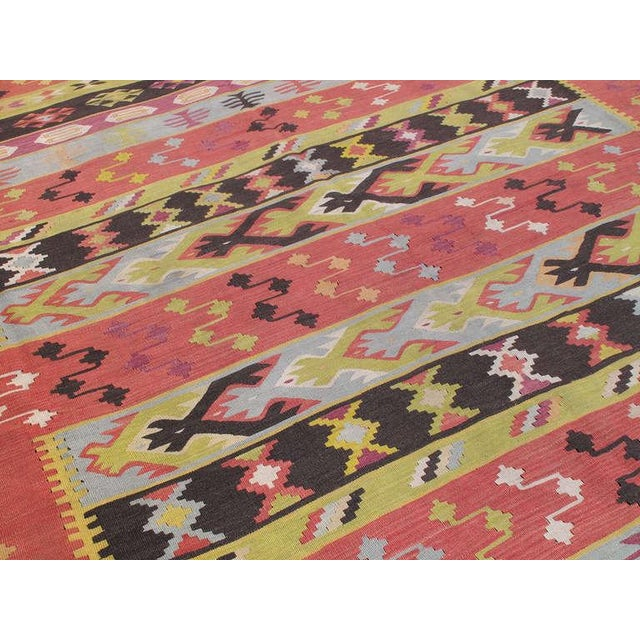 Traditional Balkan Kilim For Sale - Image 3 of 7