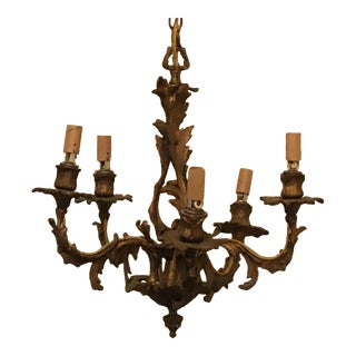 18th Century French Bronze Chandelier For Sale