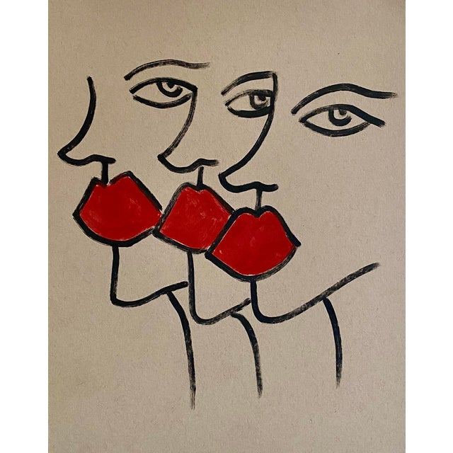 Abstract Abstract Ladies Marker Drawing For Sale - Image 3 of 3