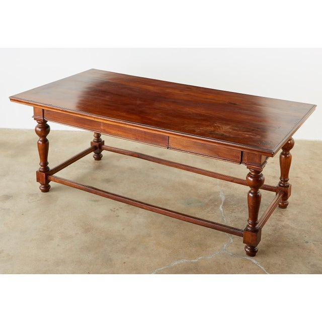 Farmhouse Country English Farmhouse Library Table or Work Table For Sale - Image 3 of 13