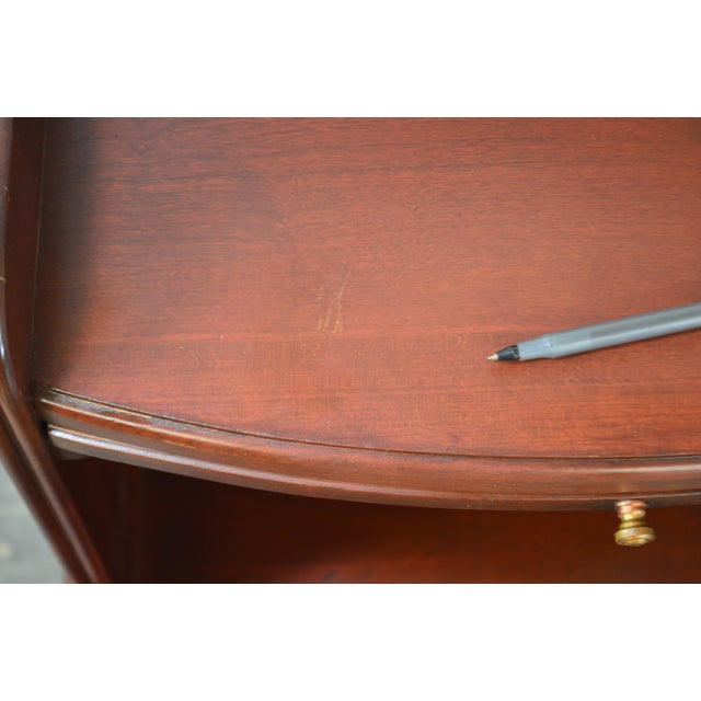 Pennsylvania House Mt Vernon Pair of Solid Cherry Vintage Nightstands For Sale - Image 10 of 13