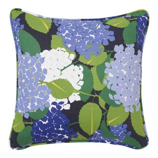 Schumacher X Paul Poiret Hydrangea Pillow in Document For Sale