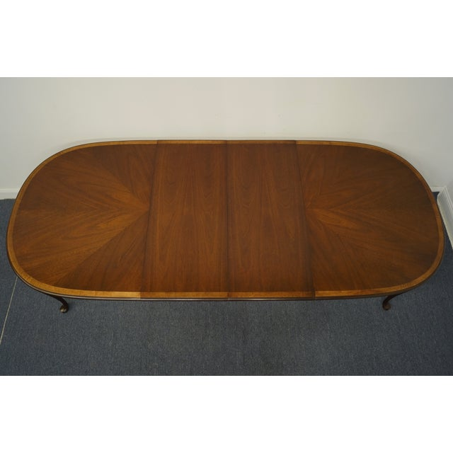 Statton Furniture Banded Mahogany Dining Table For Sale - Image 9 of 11