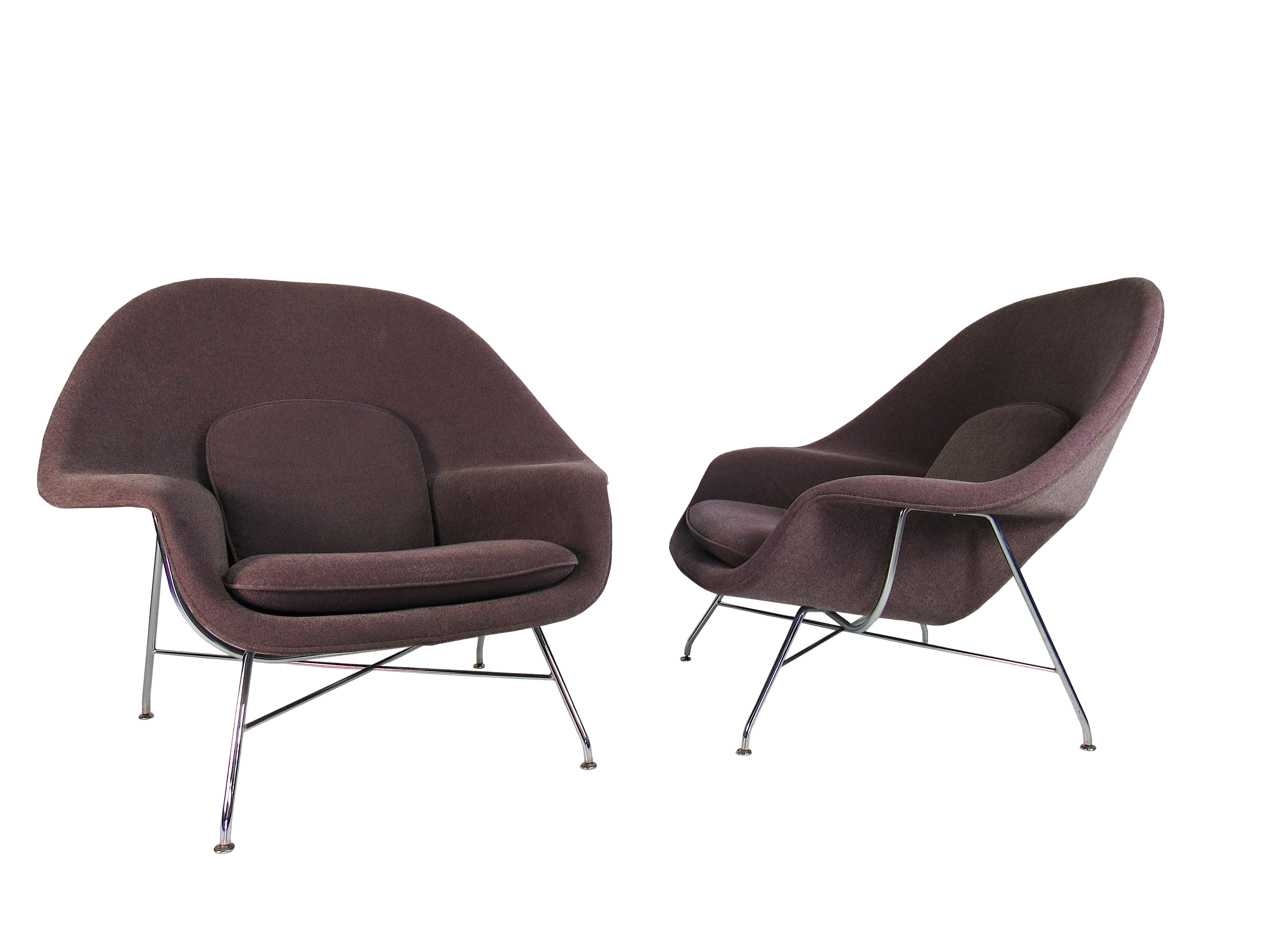 Pair Of Womb Chairs By Eero Saarinen For Knoll For Sale