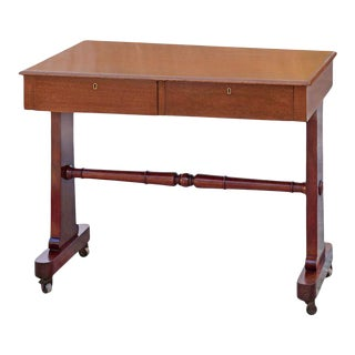 William IV Mahogany Library Table Circa 1830 For Sale