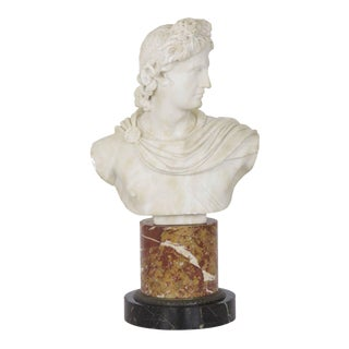 19th Century Italian Grand Tour Marble Bust of Apollo