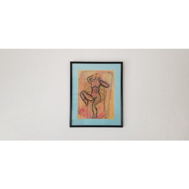Mid-Century Modern 1990 Ghort Marino Abstract Nude Female Painting For Sale - Image 3 of 11