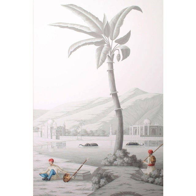 Hand-painted on paper, these are scaled down versions of giant hand-block printed wallpaper murals that adorned large...