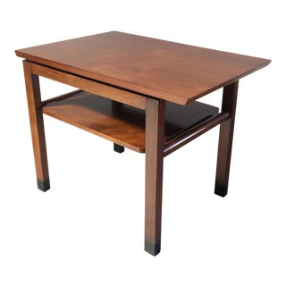 Dunbar Walnut End Table For Sale