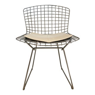 Bertoia Classic Side Chair With Seat Pad For Sale